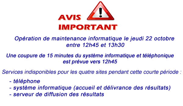 Interruption de service le 22 octobre