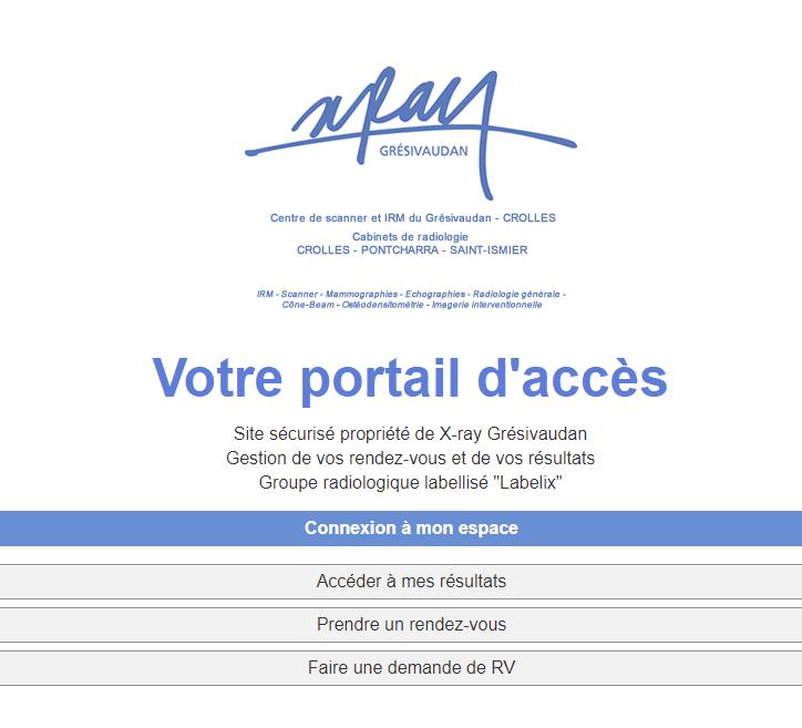 """Mise en service du """"Portail patient"""" avec prise de RDV en ligne"""